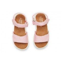 Toms Pink Canvas Tiny Sandals  c3a9c0fa8ca