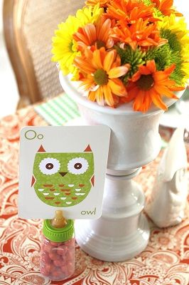 Owl baby shower party idea by @Chris Nease