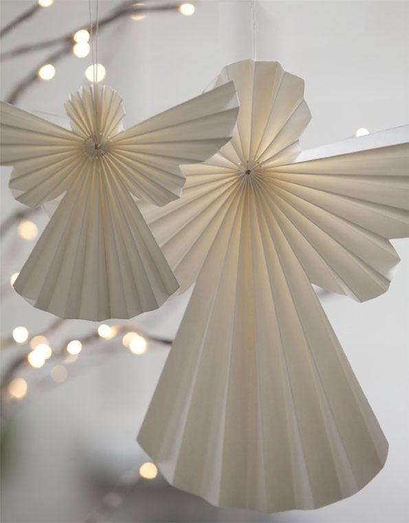 tindra origami hanging paper angel we love christmas