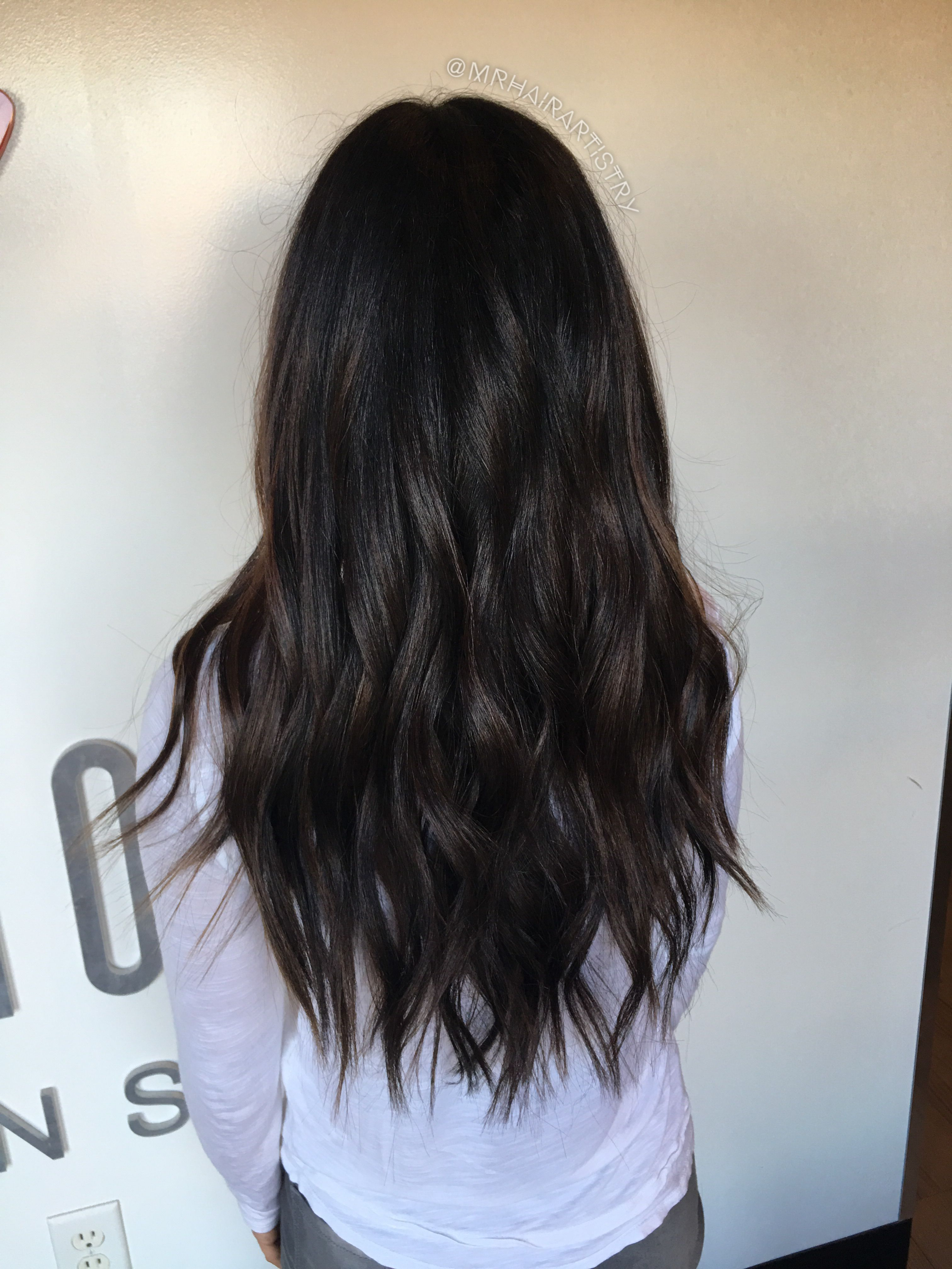 Deep Coffee Brown Balayage Beautiful Hair Pinterest Hair Hair