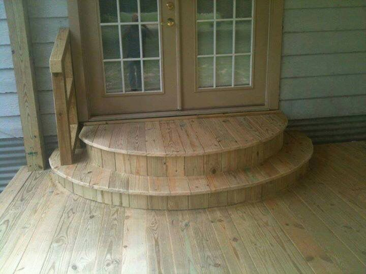 Best Back Door Curved Landing Steps Idea Patio Stairs 400 x 300
