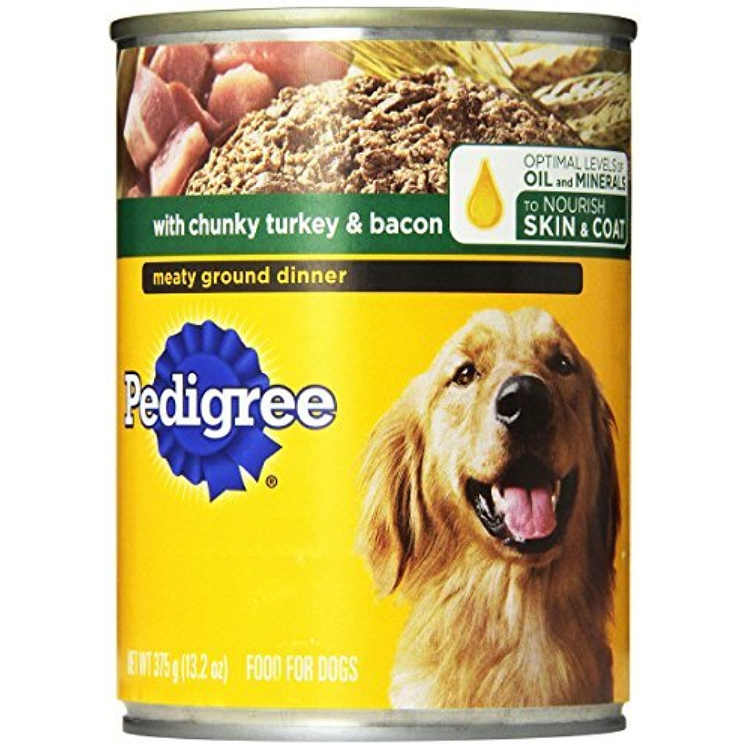 Pedigree Meaty Ground Dinner With Chunky Turkey And Bacon Canned