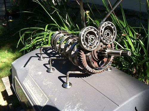 Metal Bug Sculpture Yard Art Very Cute