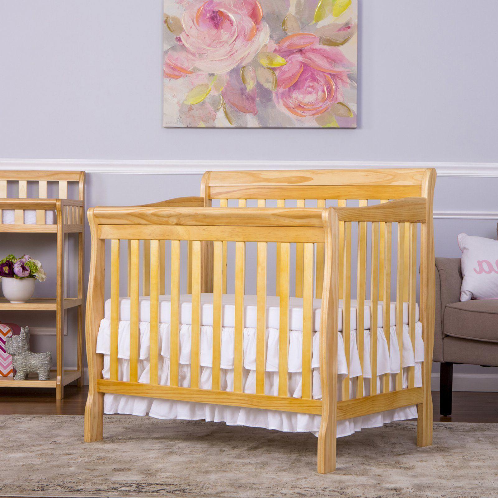 Dream On Me Aiden 4 In 1 Mini Convertible Crib Mini Crib Cribs Convertible Crib