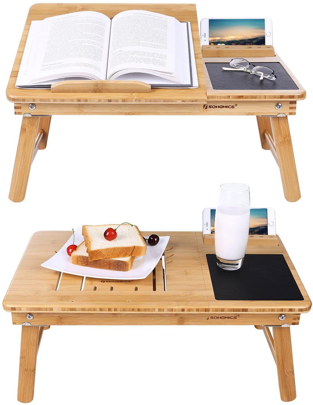 Betttisch Pure Mnmlsm Weiss Holz Metall Buche Laptoptisch