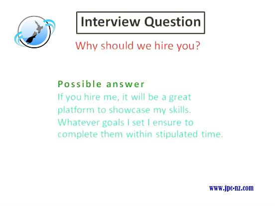 Why should we hire you? | Interview Question & Possible Answer ...