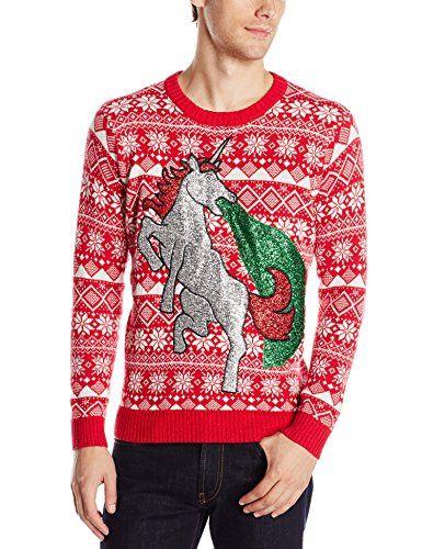 Blizzard Bay Men's Sparkle Unicorn Ugly Christmas Sweater, Red/Grey/Green, X-Large Blizzard Bay http://www.amazon.com/dp/B012TJBNNM/ref=cm_sw_r_pi_dp_eiYAwb1Q9QR9R