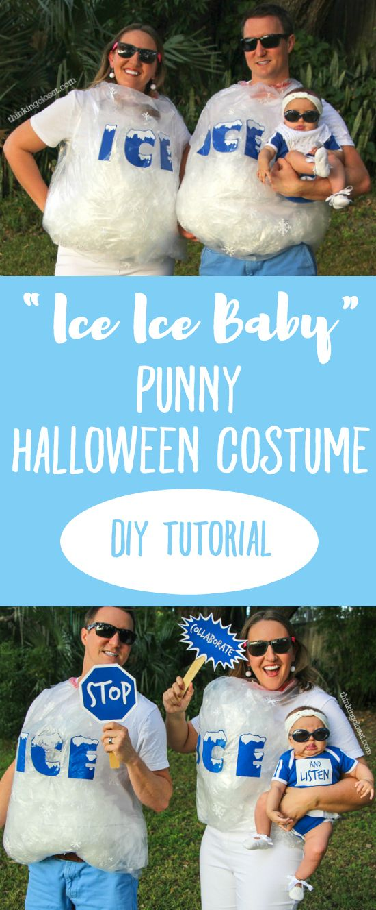 Funny Family Of 3 Halloween Costumes.Ice Ice Baby Punny Halloween Costume Halloween Punny