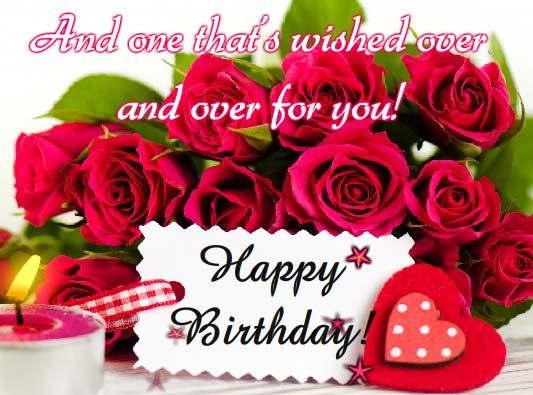 Beautiful roses to wish someone special a beautiful Birthday – Happy Birthday Greetings Photos