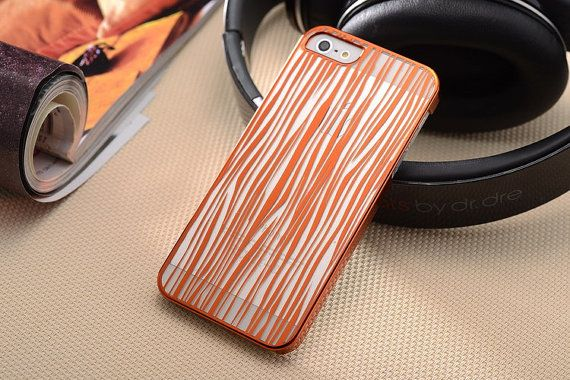 Orange Water Wave Abstract Pattern iPhone 5/5S Slim by ATHiNGZ, $13.99