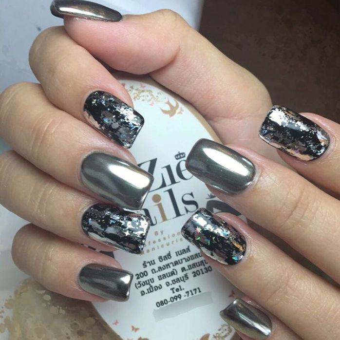 Fabulous Mirror Nail Designs That Will Glam Up Your Nails - Fabulous Mirror Nail Designs That Will Glam Up Your Nails Mirror