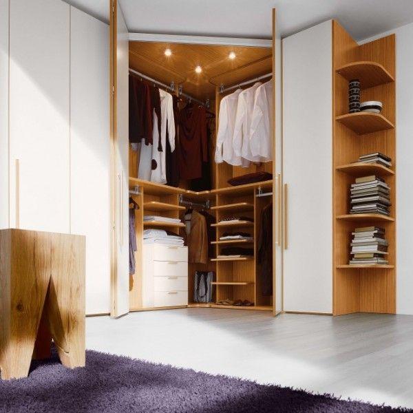 garderobe-kleiderschrank-inneneinrichtung Schlafzimmer - schlafzimmer mit eckschrank
