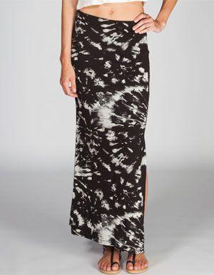 FULL TILT Floral Tie Dye Slit Maxi Skirt 29.99