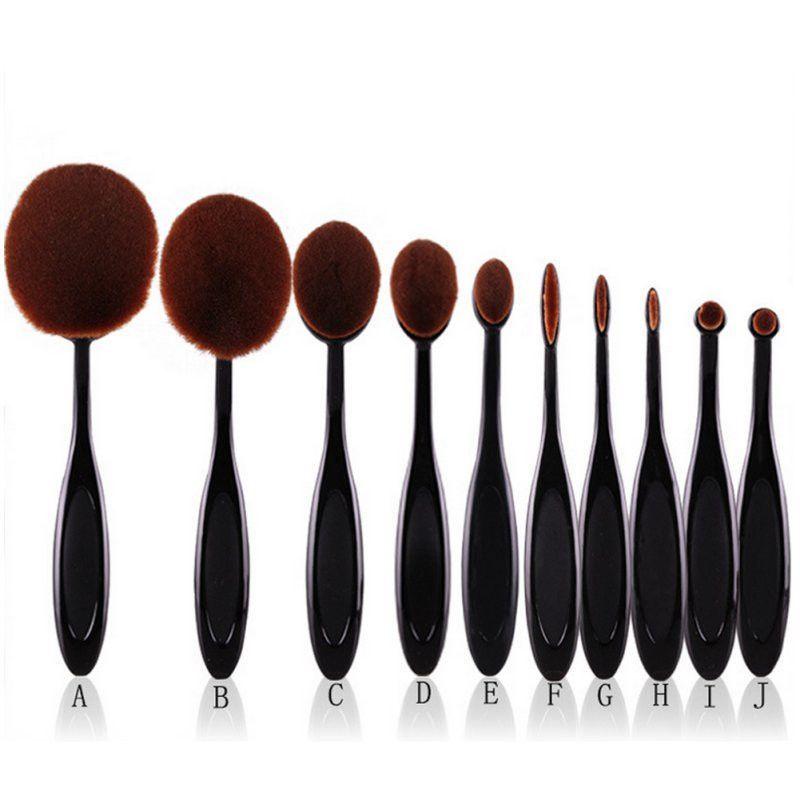 8749532e28e4 10pcs Pro Toothbrush Makeup Brush   Daily Pins   Makeup brush set ...