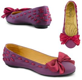adorable purple and pink flats with bow.