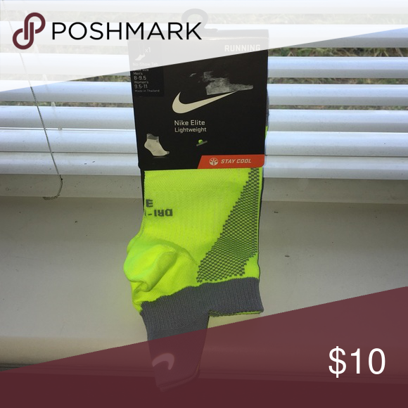 Nike elite running socks Brand new, with tags. Men's size 8-9.5 Nike Underwear & Socks Athletic Socks
