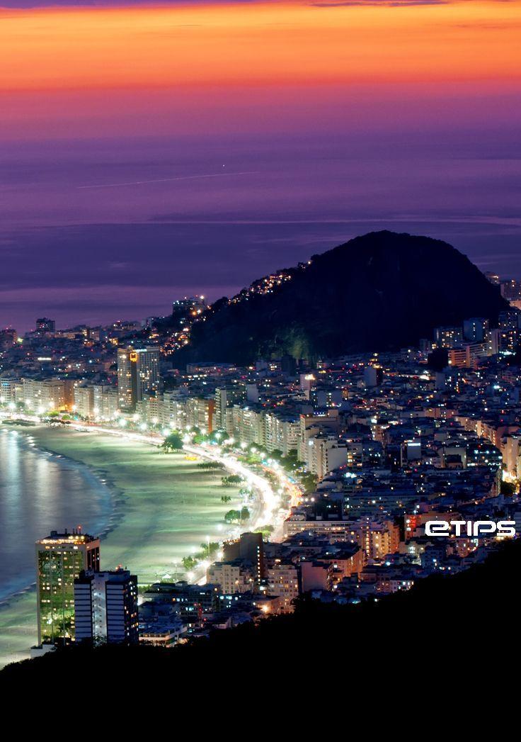 Rio de Janeiro  Sunset ♥ by eTips #TravelApps   http://www.etips.com