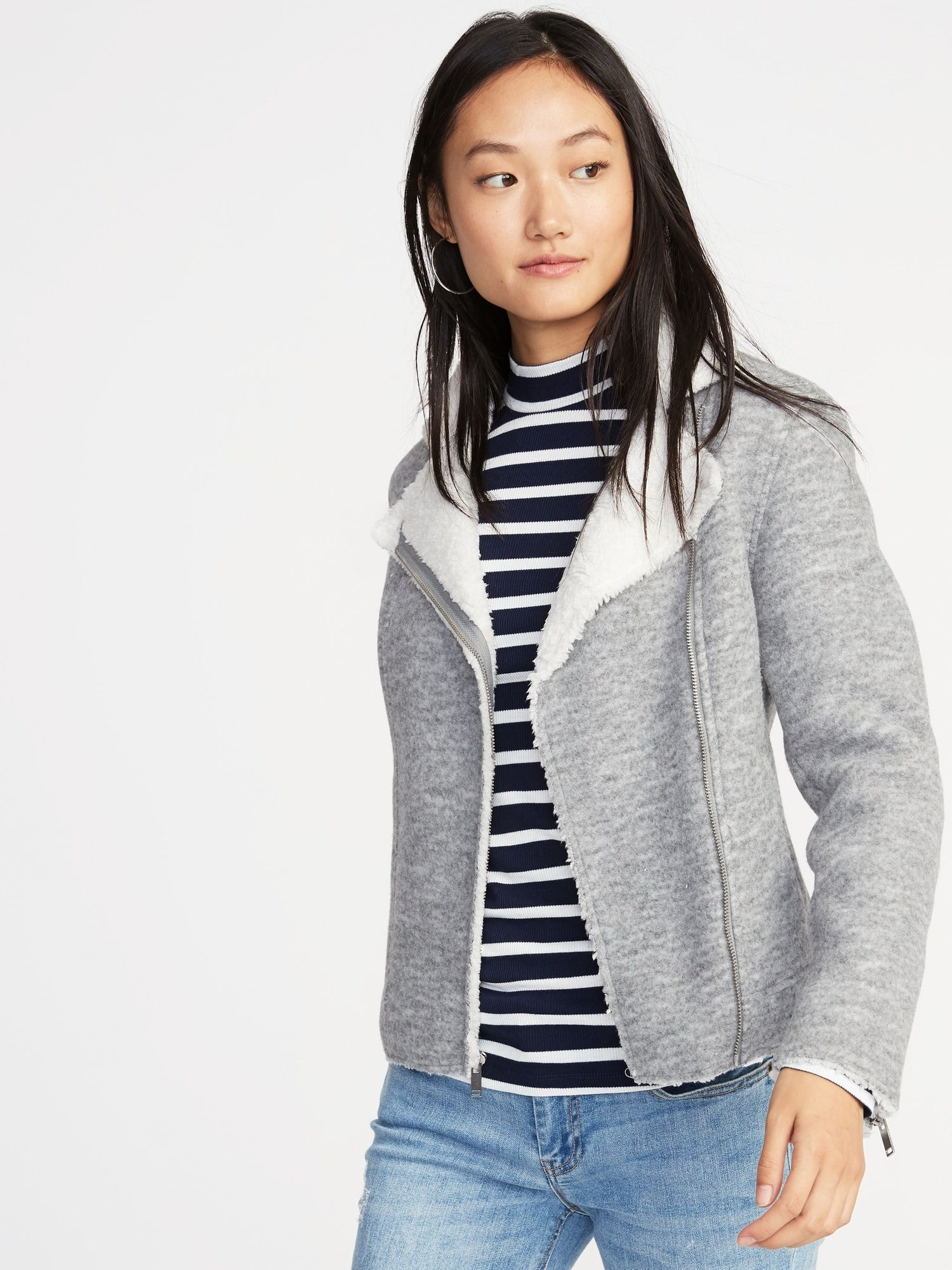 SherpaLined Moto Jacket for Women Old Navy Jackets
