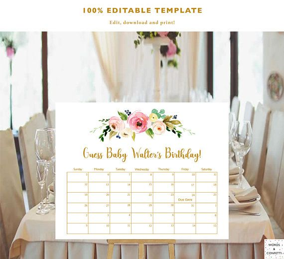 Guess Baby Birthday, Baby Due Date Calendar, Due Date Prediction
