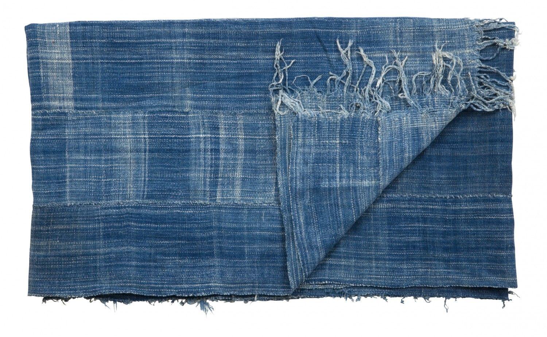 vintage indigo scarves jayson home textile art. Black Bedroom Furniture Sets. Home Design Ideas