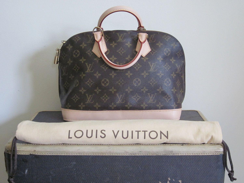 Vintage 1990s Louis Vuitton Alma Bag New Vintage Lv Bag French Couture Logo Designer Luxury Gift Mongra Louis Vuitton Louis Vuitton Alma Bag Vintage Lv Bag