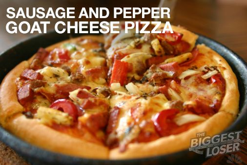 BiggestLoser #KidFriendly #Recipe Sausage  Pepper Goat Cheese - California Pizza Kitchen Chicago