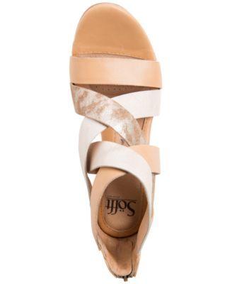 709da32e5bc Sofft Rosaria Mixed-Media Wedge Sandals - Sandals - Shoes - Macy s