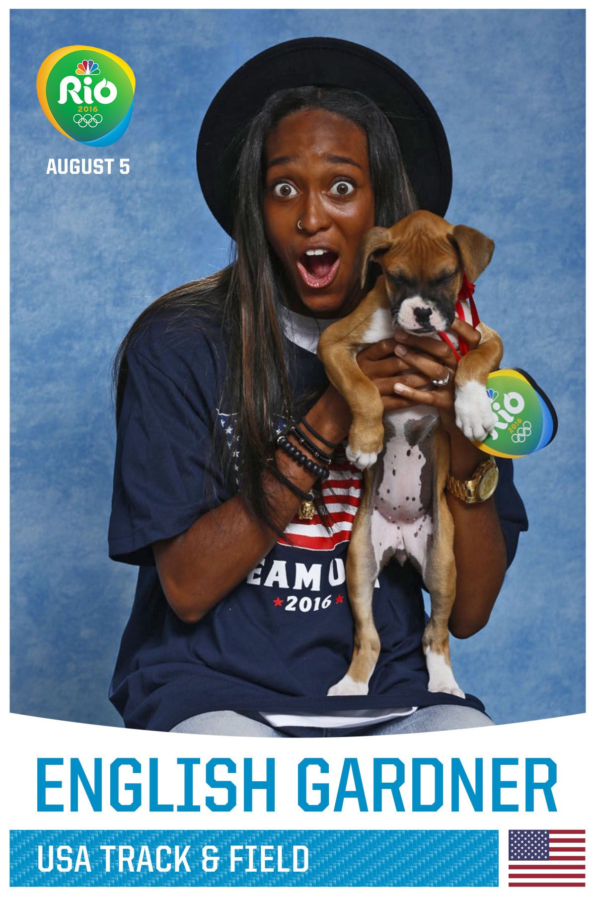 84 Team USA Olympians Posing With Puppies, Any Questions