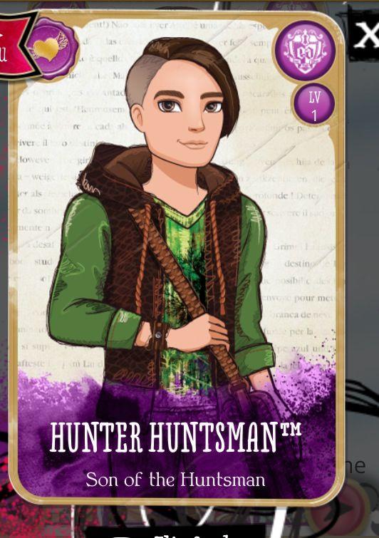 Hunter Huntsman's card