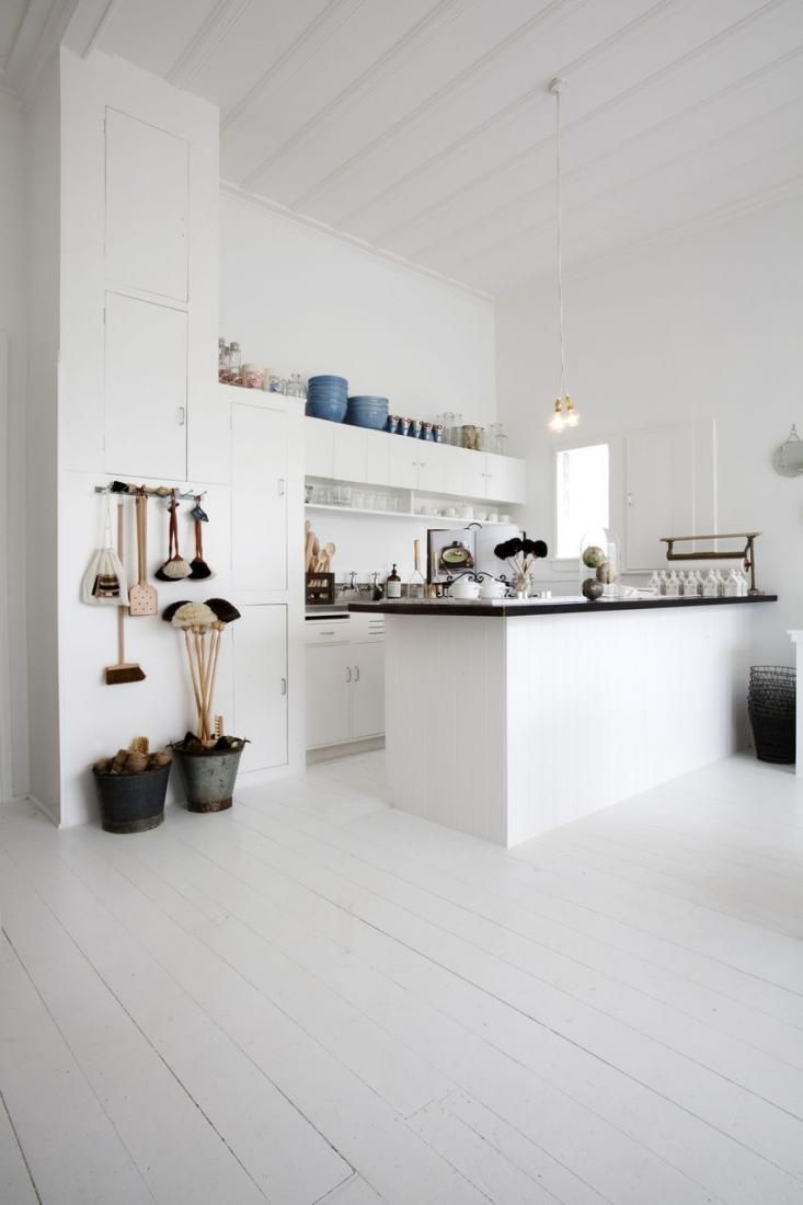 An All-White Kitchen with Brushes and Brooms   For the Home ...