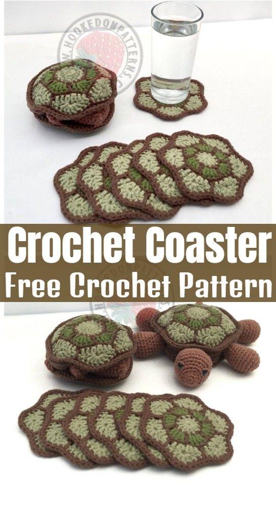 Crochet Coaster Patterns – All Free Patterns – All Crochet Pattern #crochetturtles