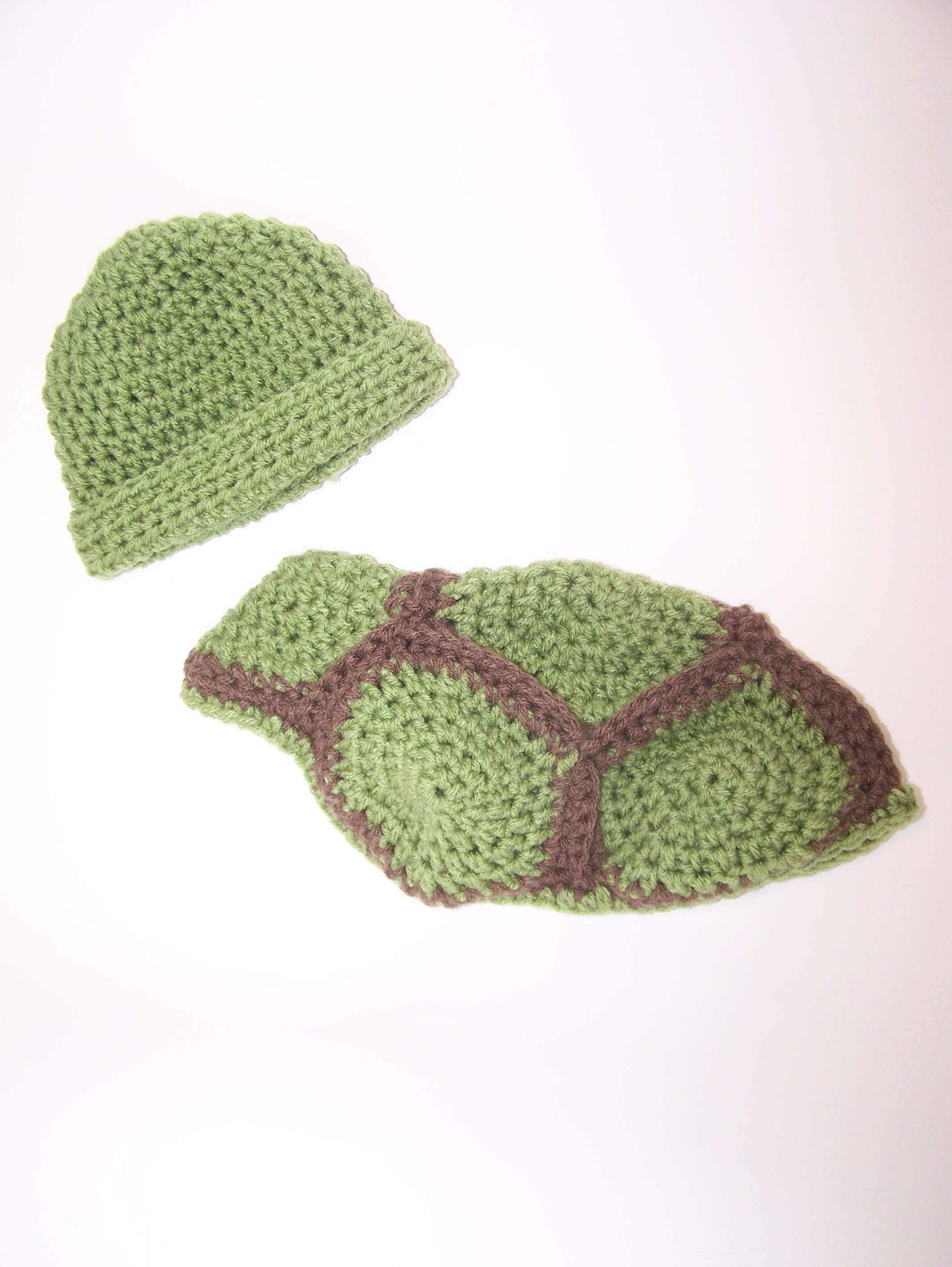 Baby Turtle outfit, crochet cocoon and hat -by Hooks and Heels ...