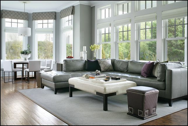 Gray Leather Couch Decorating Ideas   Leather couch ...