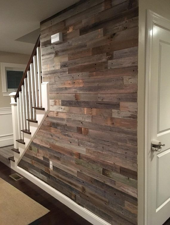 Photo of Reclaimed Barn Wood 3″ Wide Planks – 10 Square Feet / Yes- Peel and Stick Adhesive