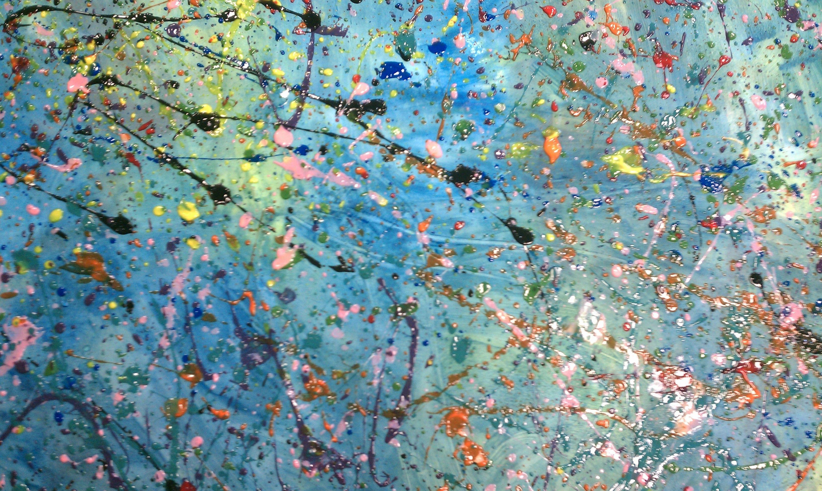 Pollock splatter 3264 1952 painting vibe for Mural jackson pollock