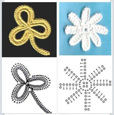 Puntadas flores crochet