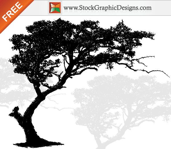 African Family Tree Tattoos Free Vector Art Tree Silhouette Download Free Vector Graphic Designs Tree Silhouette Shadow Painting Nature Vector