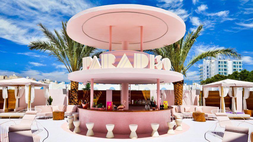 Paradiso Ibiza Art Hotel By Ilmiodesign Is An Exercise In Pastel Pastiche Art Deco Hotel Miami Art Deco Hotel Interior Design