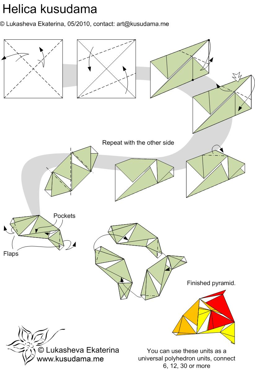 Diagram for helica kusudama pinterest diagram for helica kusudama pooptronica