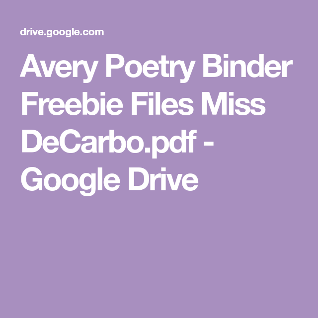 Avery Poetry Binder Freebie Files Miss DeCarbo.pdf
