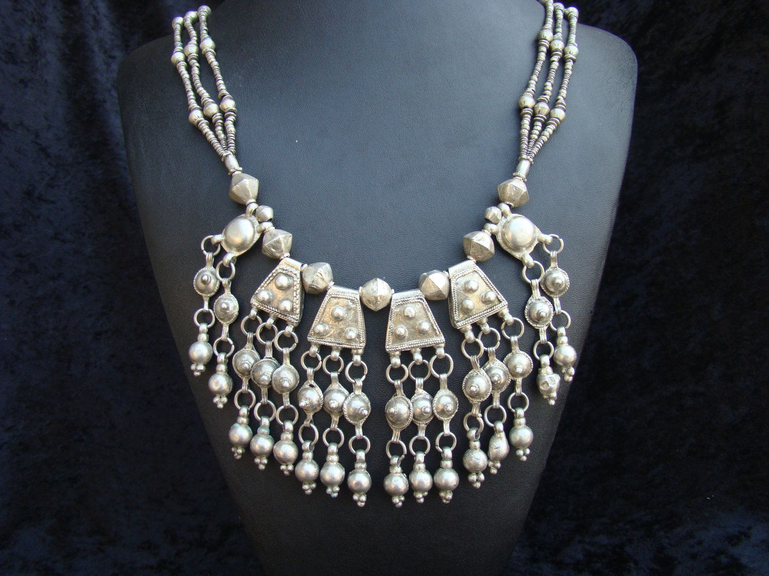 Africa | Silver necklace from the Argobba region of Ethiopia