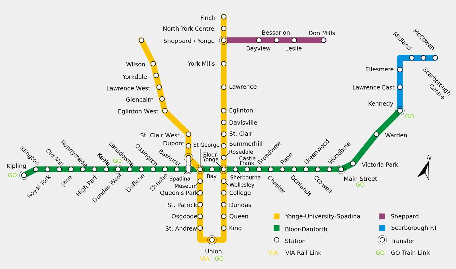 Toronto, Subway map and Maps ...