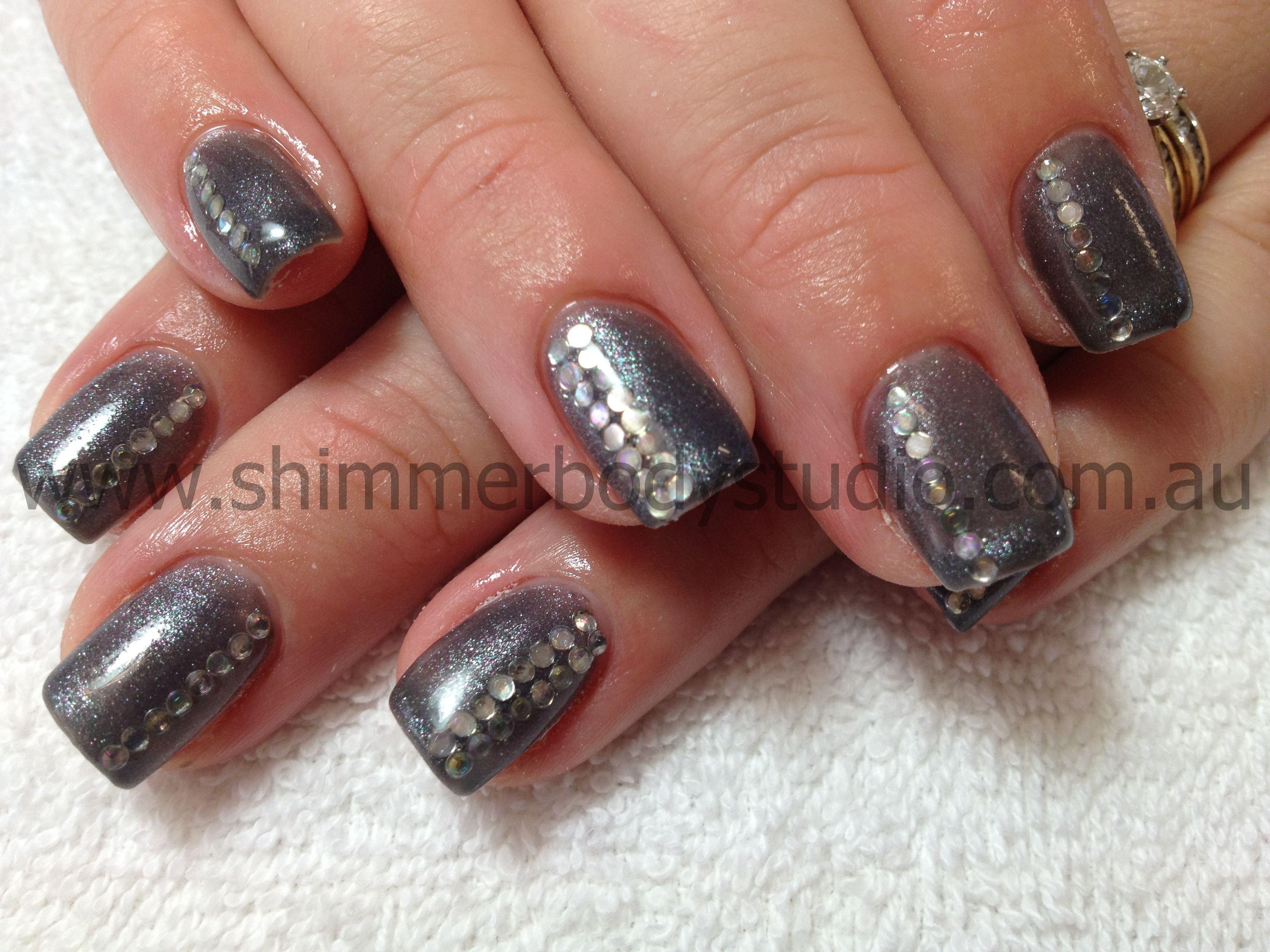 Gel Nails, Gel Polish, Nail Art, Crystals, Diamante, Bling. | Nail ...