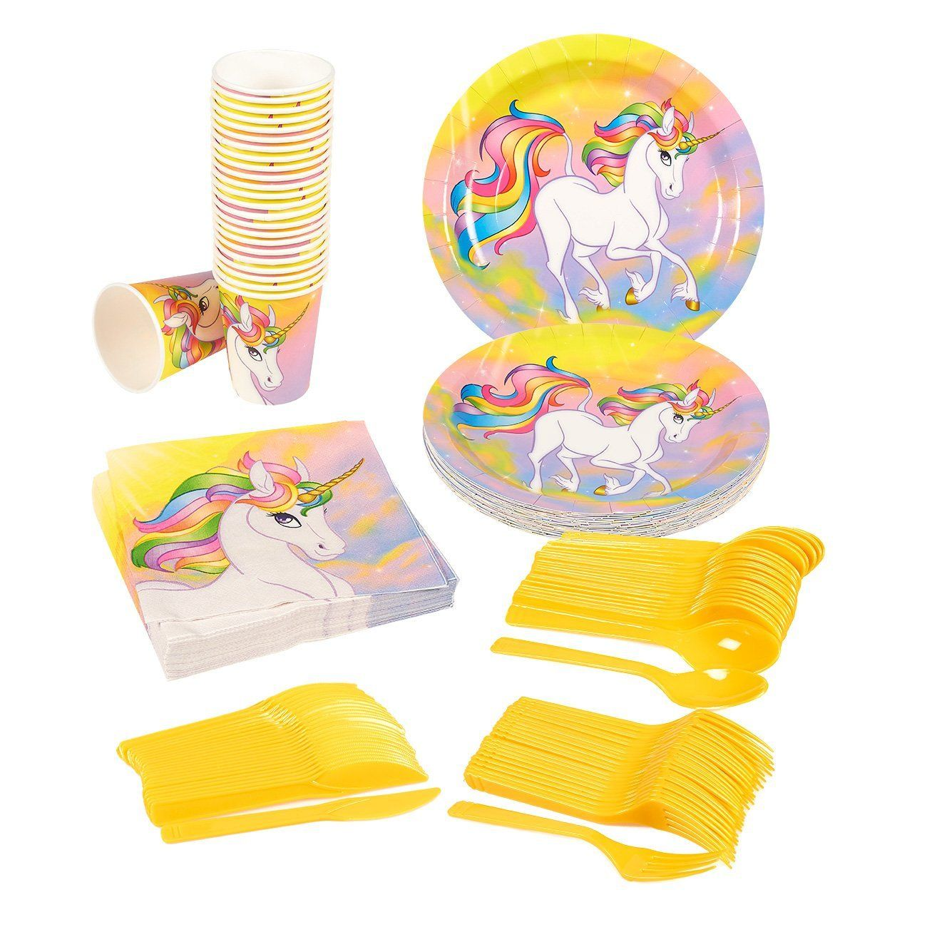 set of 3 Rainbow Unicorn 24 Inflatable Unicorns