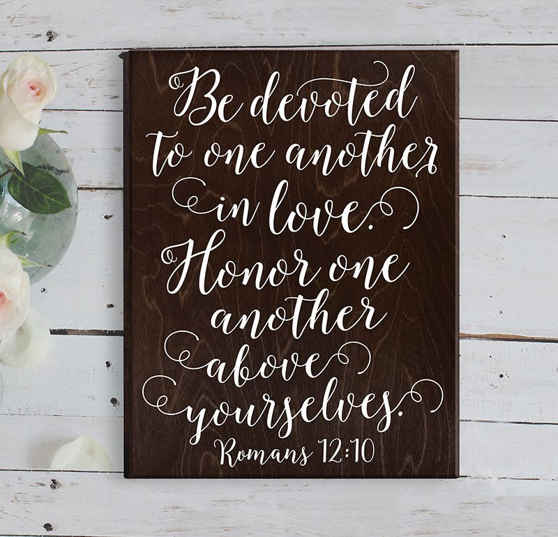 Romans 12 10 Bible Verse Wall Art Bible Verse Wedding Gift More