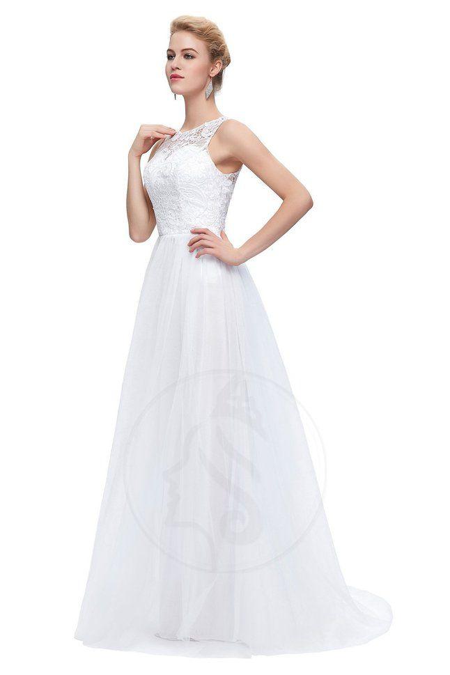 Gefaltet A-Line Tüll bodenlanges Brautkleid mit bedeckter Rücken mit ...