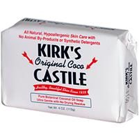 Kirk's Original Coco Castile Soap, eco friendly, animal friendly, health friendly (all natural with coconut oils ect.)  great product !