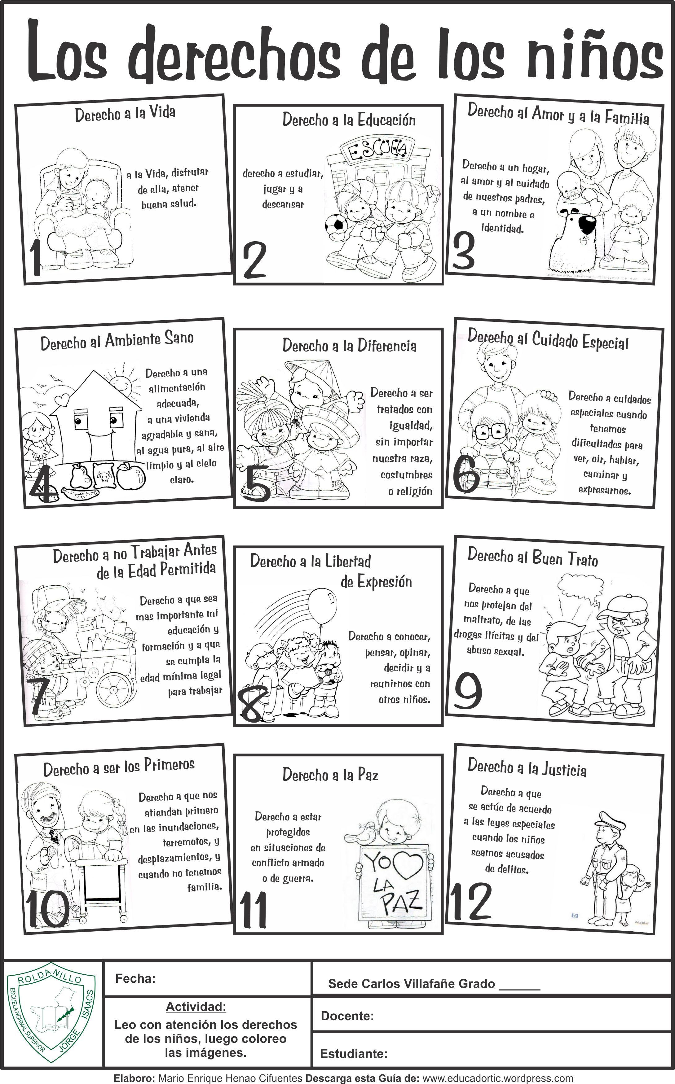 Gu a para primaria derechos de los ni os cori pinterest guia para docentes y el derecho - Grado superior de jardin de infancia ...