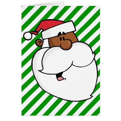 Black Santa Claus Holiday Card Zazzle Com Au Black Santa Free Clip Art Santa Claus
