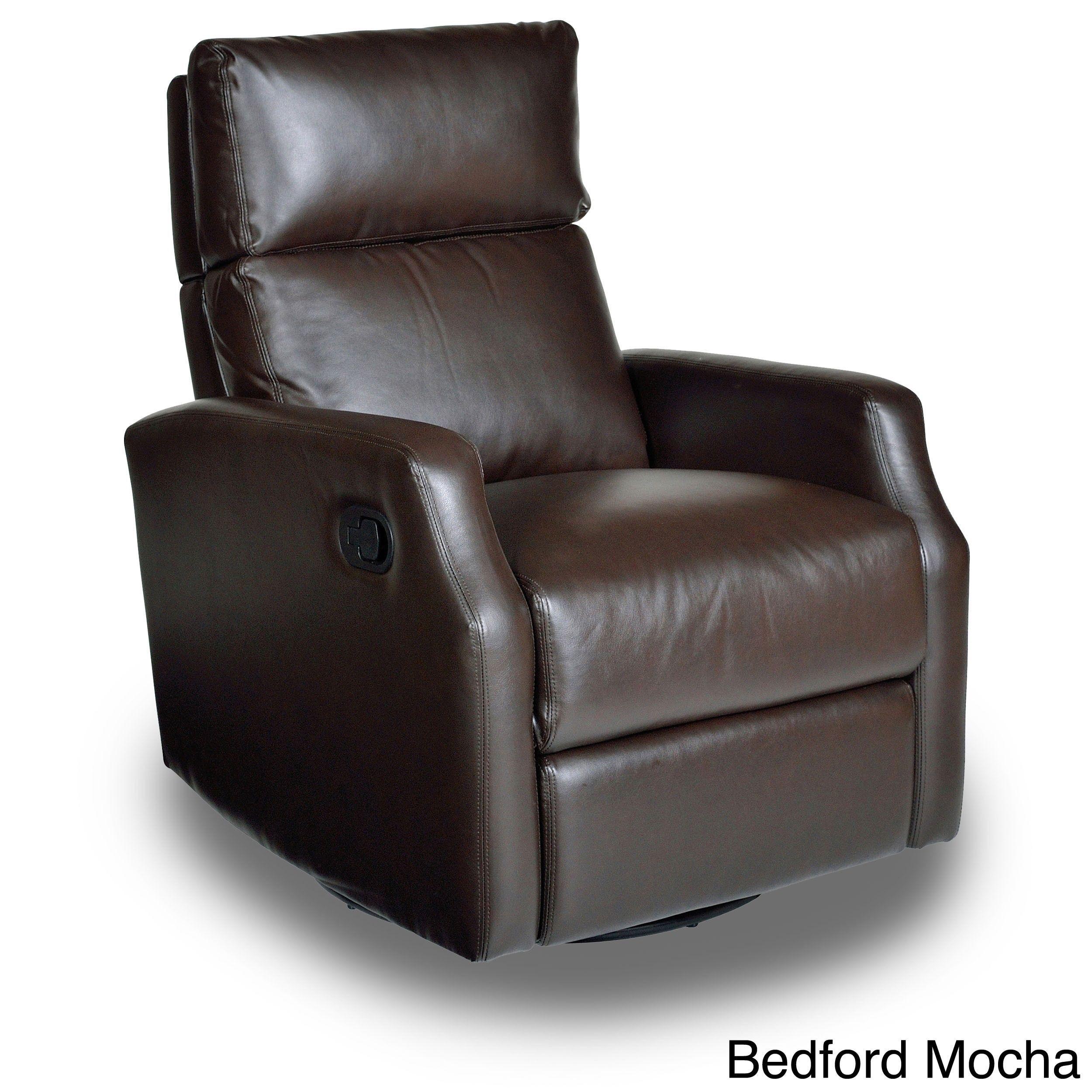 Opulence Home Sidney Swivel Glider Recliner (Bedford Mocha), Size Oversized  (Leather)